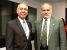 Embajador Joel con el Ombudsman el día de muertos en la sede de la OEA