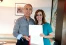 Entregan reconocimiento la UdeO a Salvador Ortega
