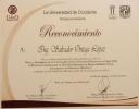 Reconocimiento a Salvador Ortega en la UdeO